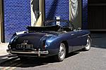 405 drophead rear three quarter view with roof down