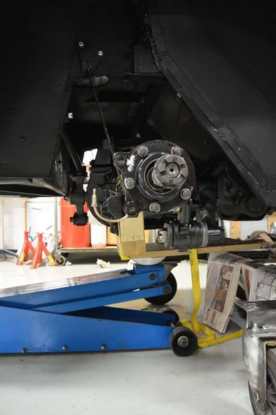 Rear axle in Place.