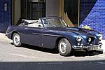 405 drophead front three quarter view with roof down